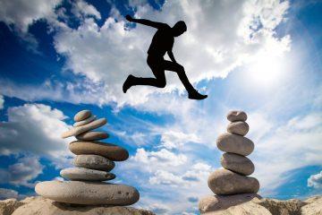 balance, risk, courage